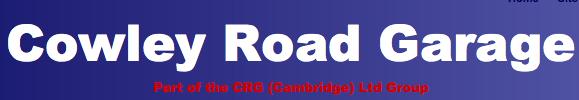 C R G (Cambridge) Ltd t/a Cowley Road Garage