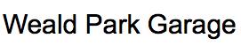 Weald Park Garage